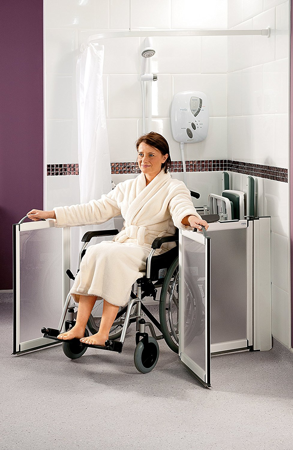 Best Shower Doors For Handicapped Shower Behind The Shower