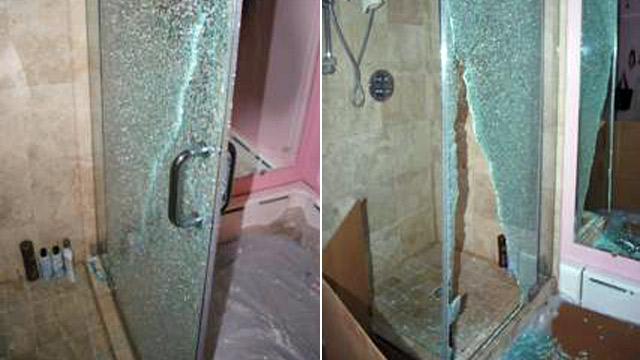 glass shower door shatter