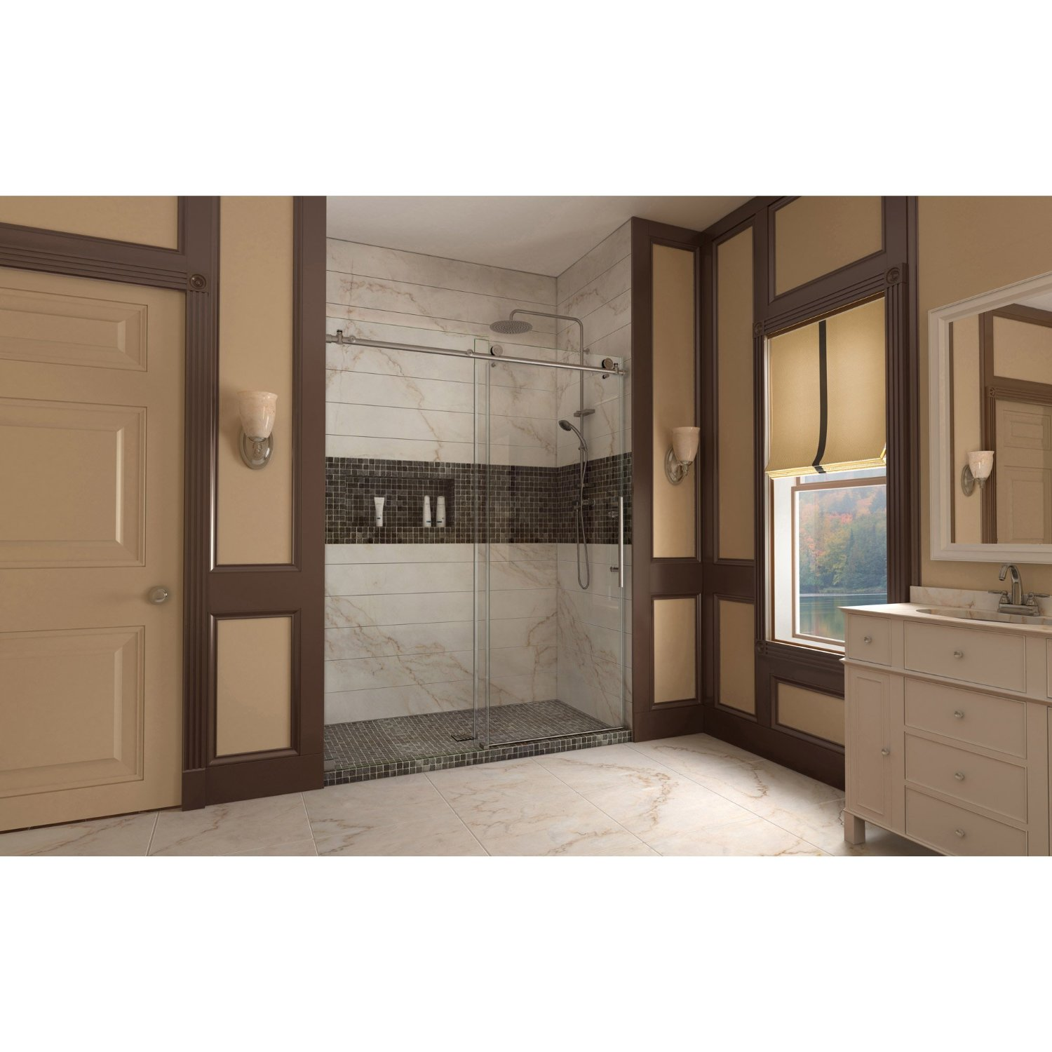 Review Of Enigma X 56 To 60 In Fully Frame Less Shower Door Behind The